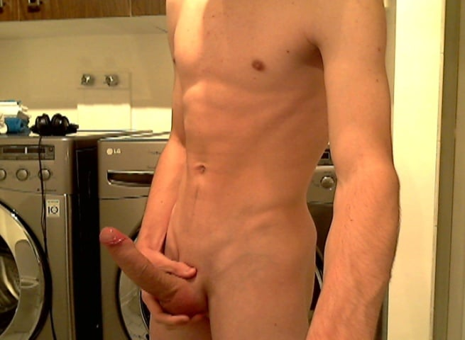 Nude Boy Holding His Nice Big Cock